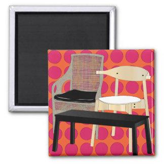 Ikea Furniture Chairs Orange Magnet