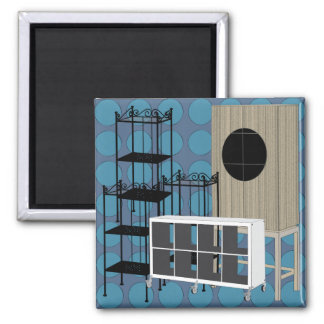 Ikea Furniture Shelves Blue Magnet