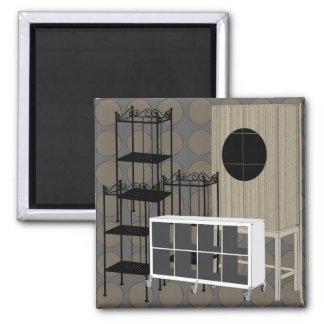 Ikea Furniture Shelves Brown Magnet