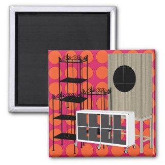 Ikea Furniture Shelves Red Magnet