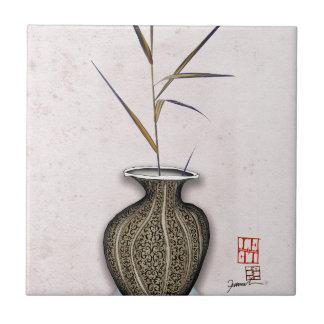 Ikebana 3 by tony fernandes ceramic tile