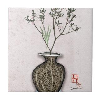 Ikebana 4 by tony fernandes ceramic tile