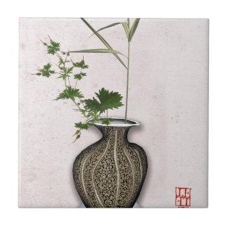 Ikebana 5 by tony fernandes ceramic tile
