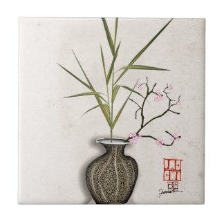 ikebana 7 by tony fernandes tile