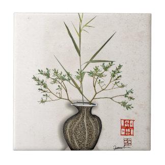 ikebana 9 by tony fernandes tile