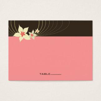 Ikebana Frangipani Pink Tropical Flower Wedding Business Card