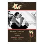 Ikebana Frangipani Pink Tropical Flower Wedding Greeting Cards