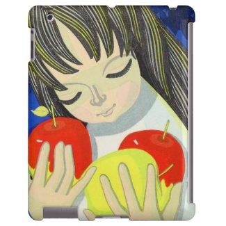 Ikeda Shuzo Apple Song cute little kawaii girl art