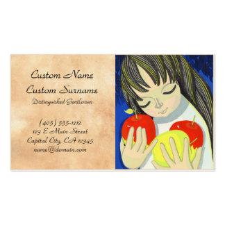 Ikeda Shuzo Apple Song cute little kawaii girl art Double-Sided Standard Business Cards (Pack Of 100)