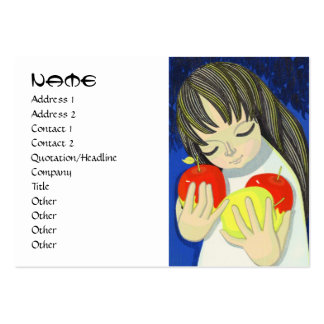 Ikeda Shuzo Apple Song cute little kawaii girl art Large Business Cards (Pack Of 100)