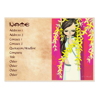 Ikeda Shuzo Flower Curtain young kawaii girl Large Business Cards (Pack Of 100)