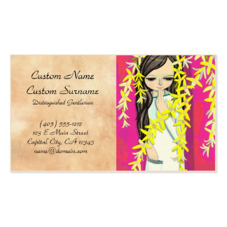 Ikeda Shuzo Flower Curtain young kawaii girl Double-Sided Standard Business Cards (Pack Of 100)