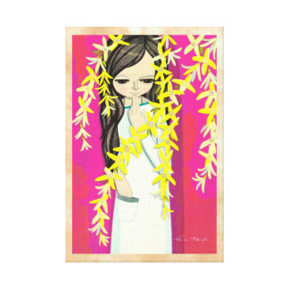 Ikeda Shuzo Flower Curtain young kawaii girl Canvas Print