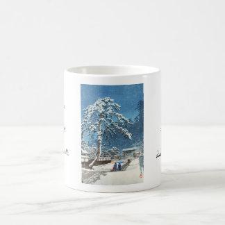 Ikegami Honmonji Temple Kawase Hasui shin hanga Classic White Coffee Mug