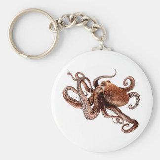 Iker The Octopus Basic Round Button Keychain