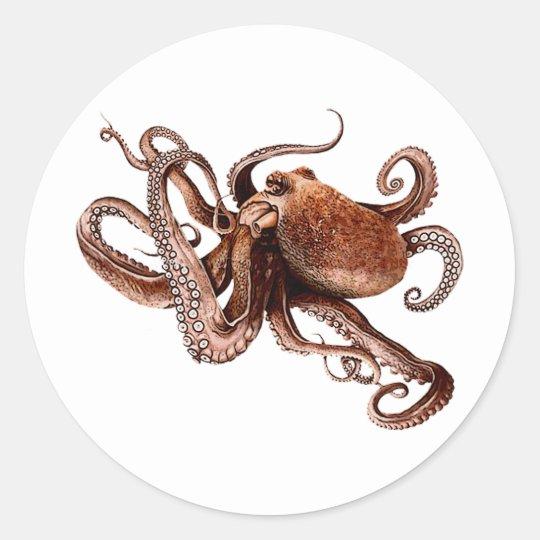 Iker The Octopus Classic Round Sticker