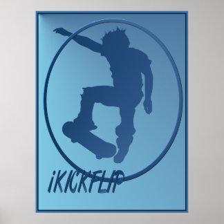 iKICKFLIP framed Poster
