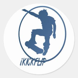 iKICKFLIP framed Sticker