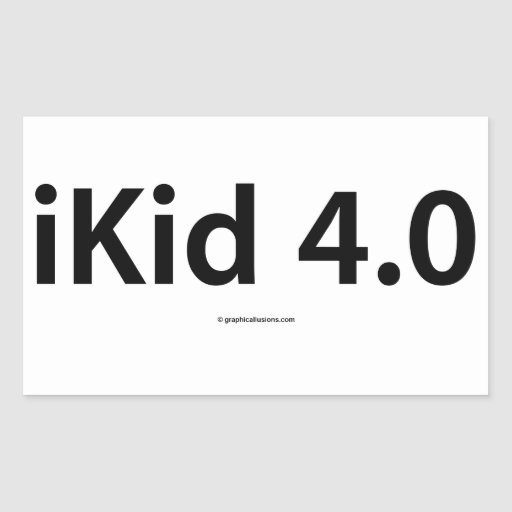 iKid 4.0 Rectangle Stickers