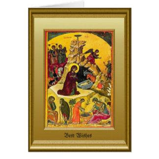 Ikon de la natividad tarjeta de felicitación