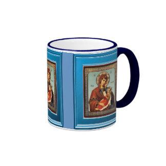 Ikon de Maria con el bebé Jesús Taza De Dos Colores