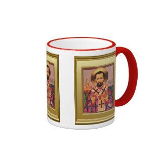 Ikon de un santo ortodoxo taza de dos colores