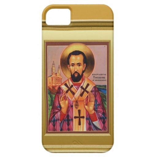 Ikon del obispo ortodoxo iPhone 5 Case-Mate fundas