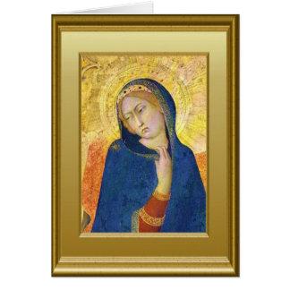 Ikon del Virgen María Tarjeta De Felicitación