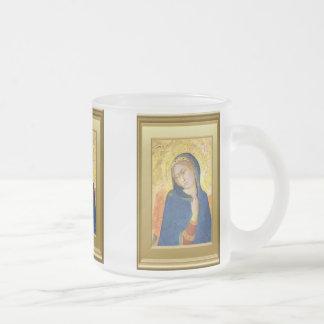 Ikon del Virgen María Taza De Cristal