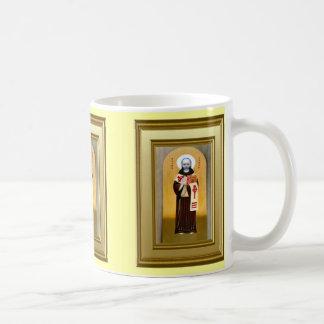 Ikon of a Celtic saint Classic White Coffee Mug