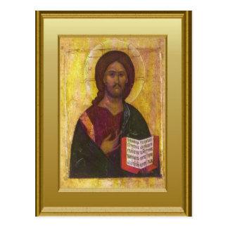 Ikon of Christ Postcard