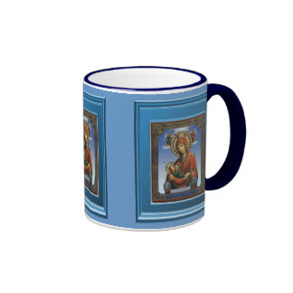 Ikon of Mary and the child Jesus Ringer Coffee Mug