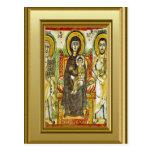 Ikon ortodoxo de Maria y de Jesús Postal