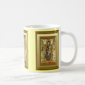 Ikon ortodoxo de Maria y de Jesús Taza Clásica