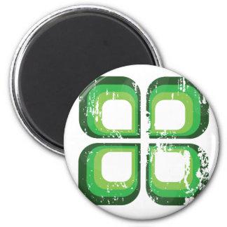 Ikon verde imán redondo 5 cm