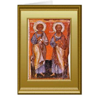 Ikons de Peter y de Paul Tarjeta De Felicitación