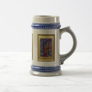 Ikons y vitral jarra de cerveza