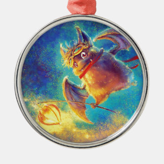 Ikou the Bat Metal Ornament