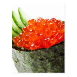 Ikura (Salmon Roe) Gunkan Maki Sushi Postcards