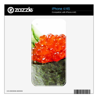 Ikura (Salmon Roe) Gunkan Maki Sushi Skin For iPhone 4S