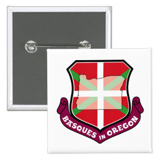 Ikurrina shield: Basques in Oregon, Pinback Button