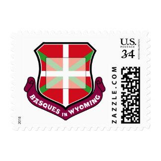 Ikurrina shield: Basques in Wyoming Postage Stamp