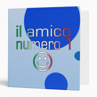 Il Amico Numero 1 in Italian Flag Colors for Boys 3 Ring Binder
