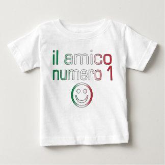 Il Amico Numero 1 in Italian Flag Colors for Boys Baby T-Shirt