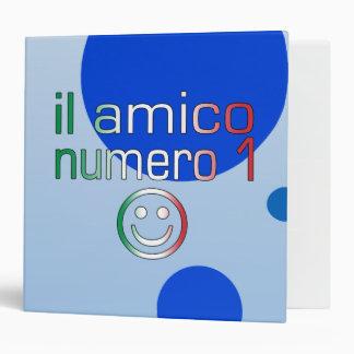 Il Amico Numero 1 in Italian Flag Colors for Boys Binder