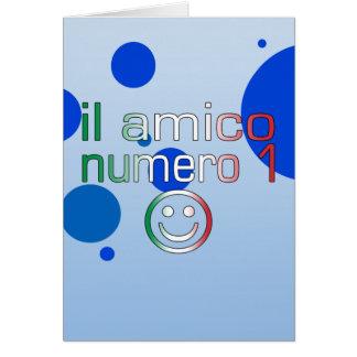 Il Amico Numero 1 in Italian Flag Colors for Boys Card