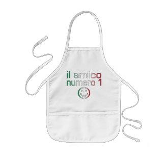 Il Amico Numero 1 in Italian Flag Colors for Boys Kids' Apron