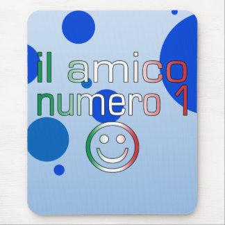 Il Amico Numero 1 in Italian Flag Colors for Boys Mouse Pad