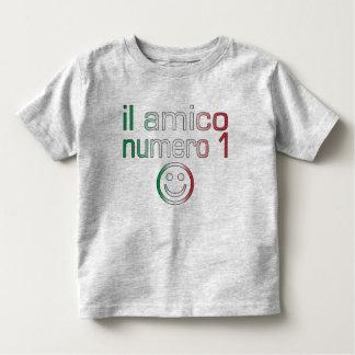 Il Amico Numero 1 in Italian Flag Colors for Boys Toddler T-shirt