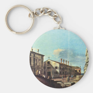 Il Campo Dei Gesuiti E La Chiesa A Venezia Key Chains